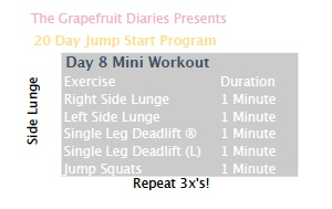 day 8 workout