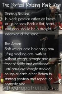 Rotating Plank Row