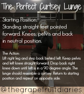 The perfect curtsey lunge
