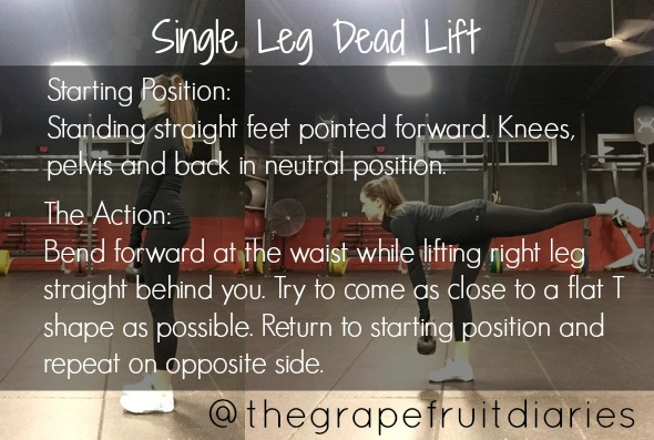 The perfect single leg deadlift